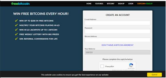 Скриншот кранов биткоинов