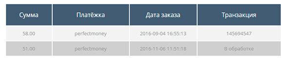 Сриншот доходов от проекта МВК