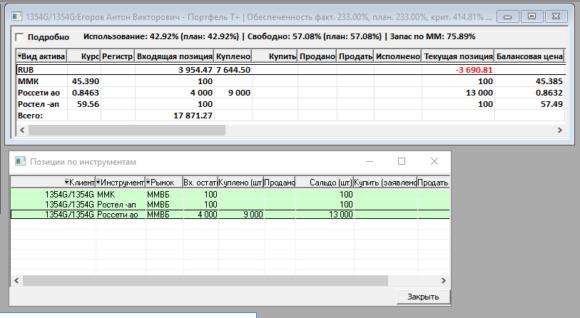 скриншот того как я купил акции в кредит