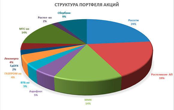 диаграмма портфеля акций